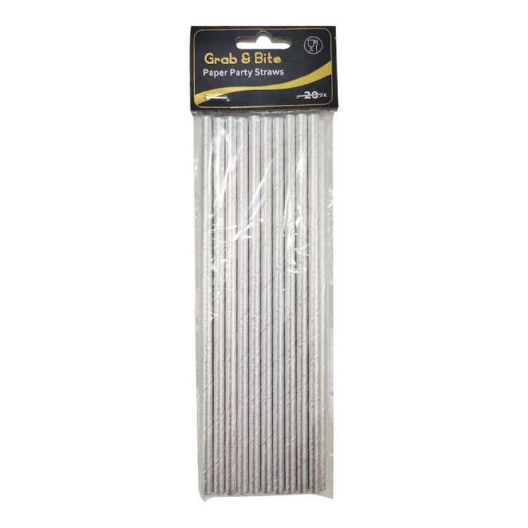 Metallic Paper Straws 20 Pack