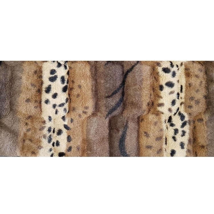 Leopard Variegated Fur Fabric