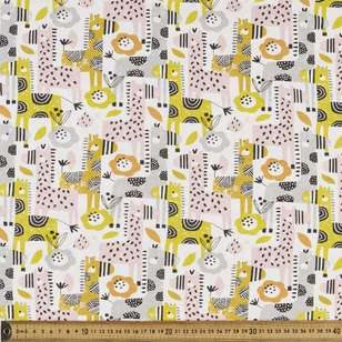 Giraffes Printed Comb Cotton Jersey Fabric
