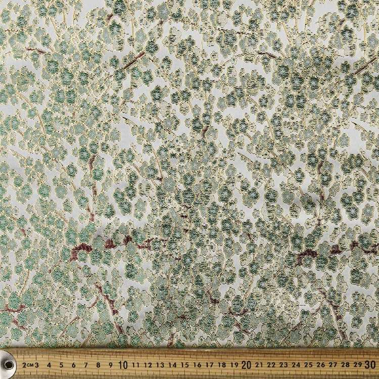 Florals Printed Brocade Fabric