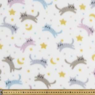 Bright Cats Printed Peak Polar Fleece Fabric