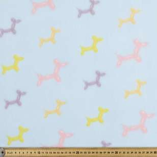 Balloon Dog Printed Peak Polar Fleece Fabric