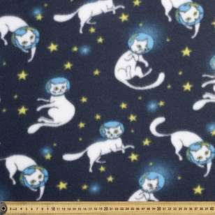 Space Cat Printed Peak Polar Fleece Fabric