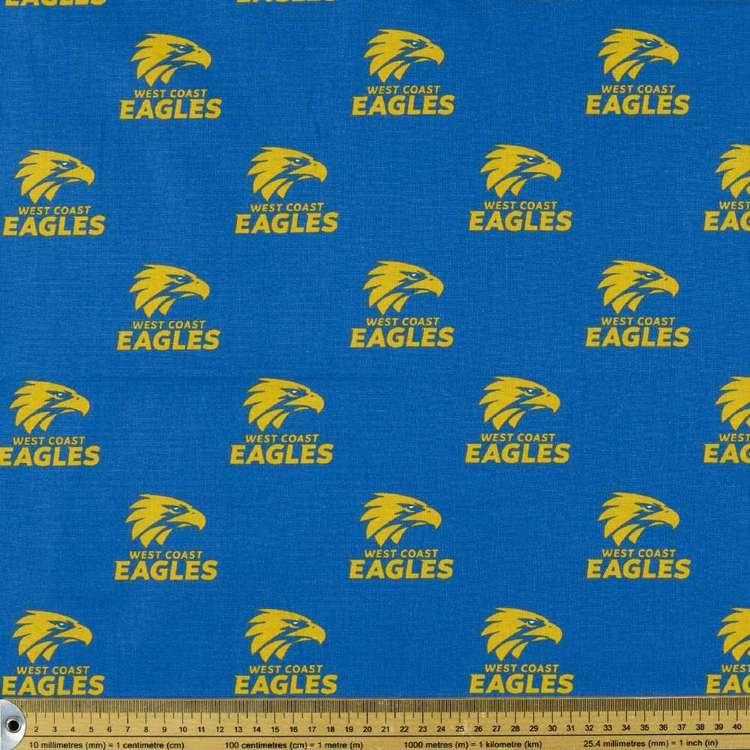 AFL West Coast Eagles Homespun Fabric