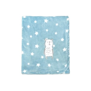 KOO Baby Blue Bear Fleece Blanket
