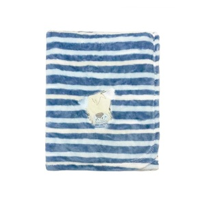 KOO Baby Navy Stripe Fleece Blanket