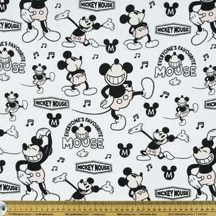 Disney Mickey Mouse Dancing Rayon Fabric