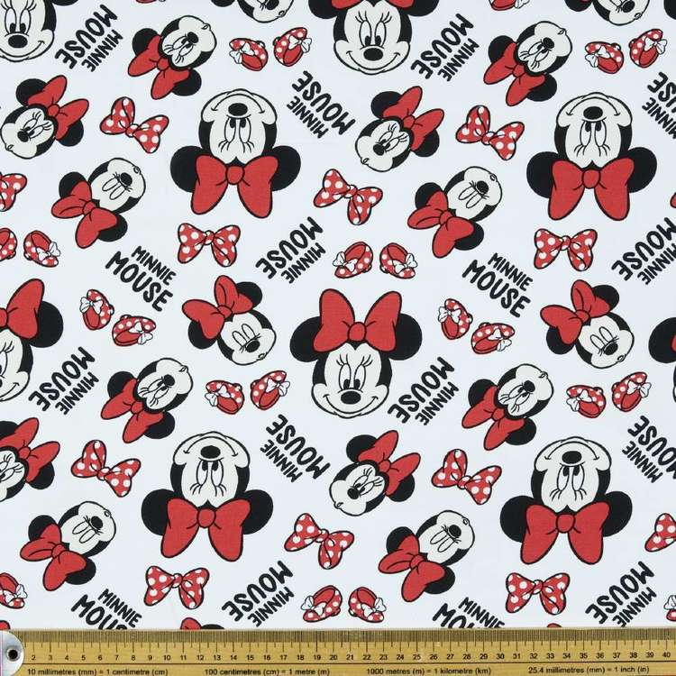 Disney Minnie Mouse Faces Rayon Fabric