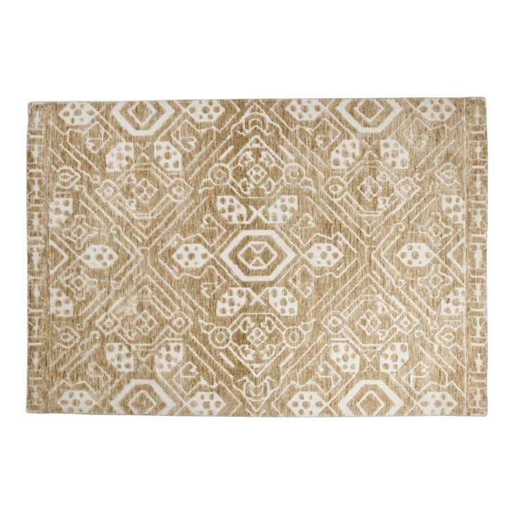 Spotlight Lotus Hi-Low Rug Beige