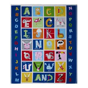 Animal Alphabet Table Cotton Panel