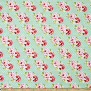 Sweet Roses Polka Dot Cotton Fabric