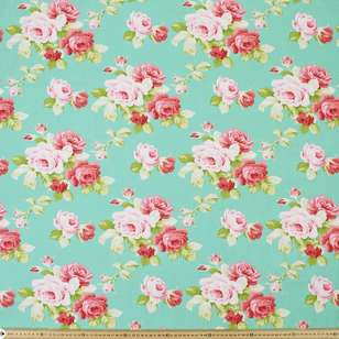 Sweet Roses Large Cotton Fabric