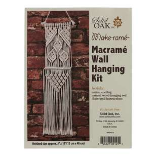 Solid Oak Three Leaves Macrame Wall Hanging Kit