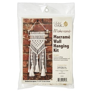 Solid Oak Tassels And Twists Macrame Hanging Kit