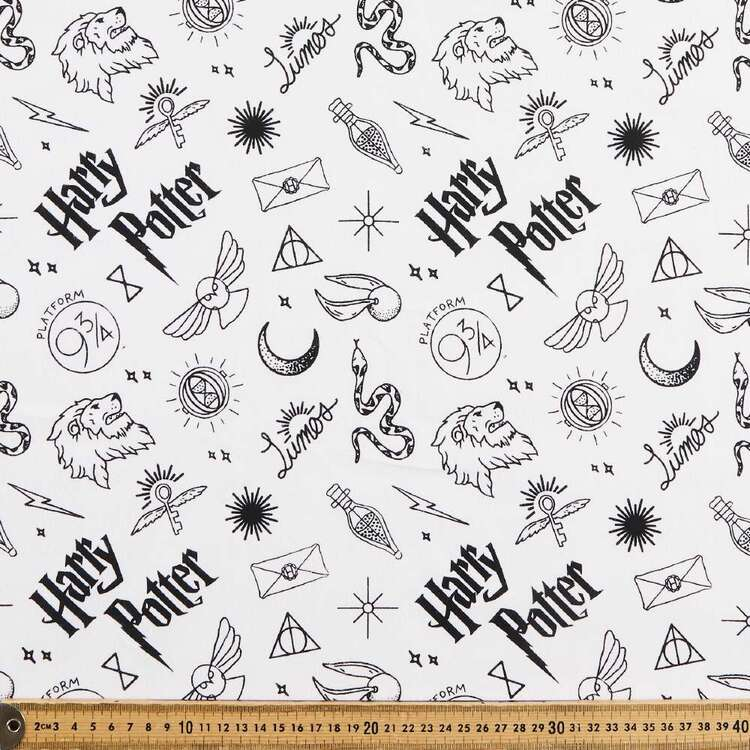 Harry Potter Motifs All Over Cotton Fabric