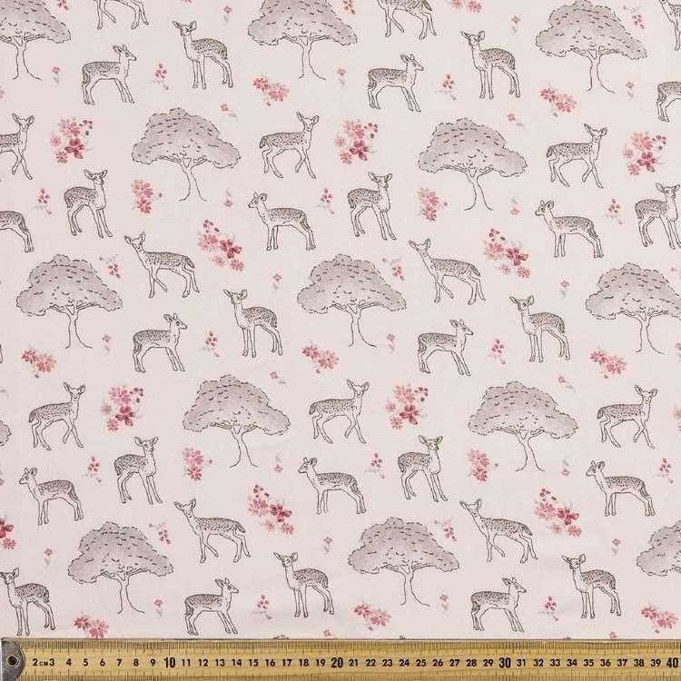 Fawn Garden Printed Organic Cotton Jersey Fabric