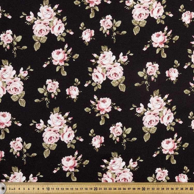 Blurred Rose Printed Organic Cotton Jersey Fabric