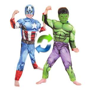 Marvel Hulk To Captain America Reversible Costume