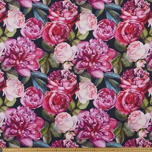 Big Rose Digital Printed Cotton Linen Fabirc