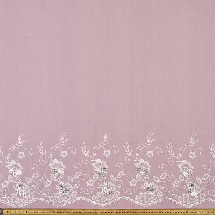 Border Cotton Embroidered Fabric
