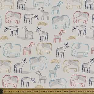 Zoo Printed Cotton Spandex Fabric