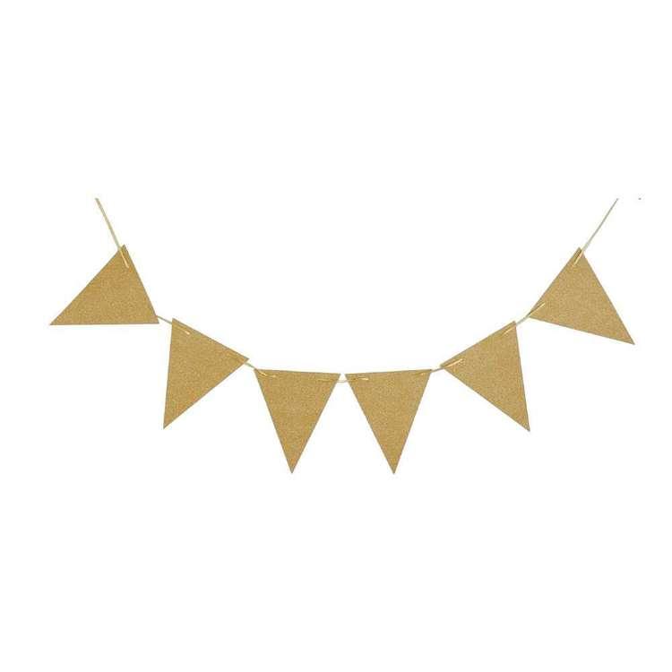 Glitter Triangle Banner