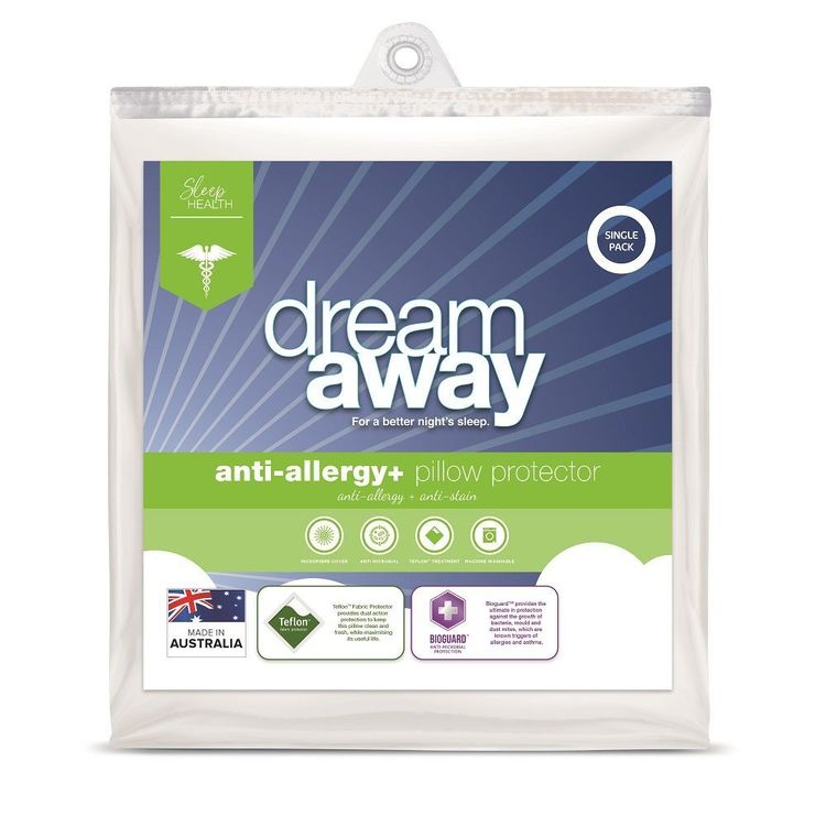 Dream Away Allergy Plus Pillow Protector White