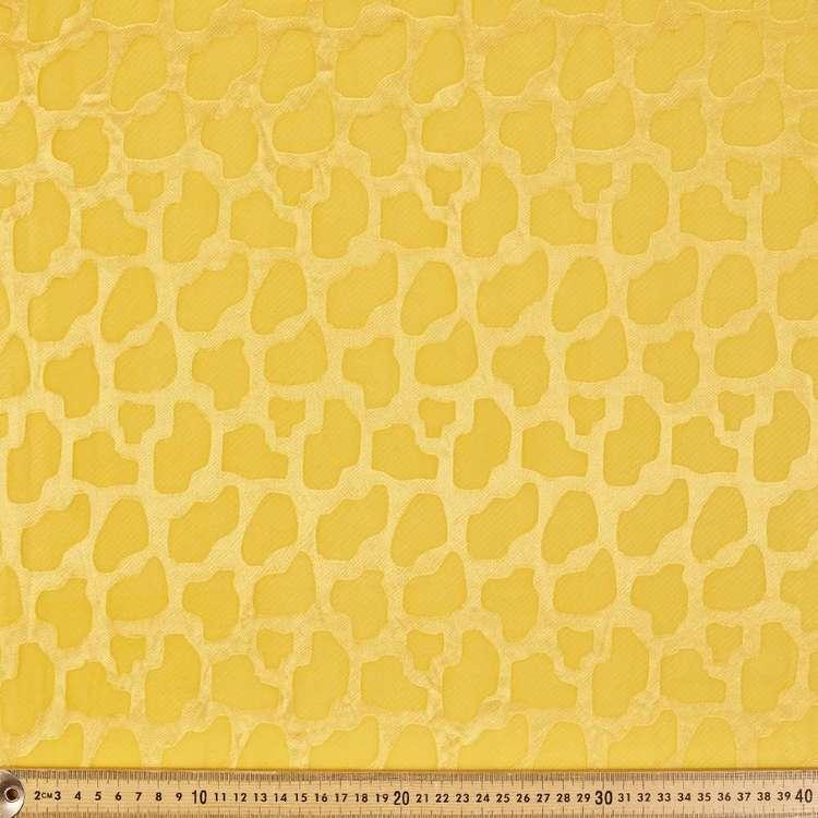 Giraffe Printed Burnout Chiffon Fabric