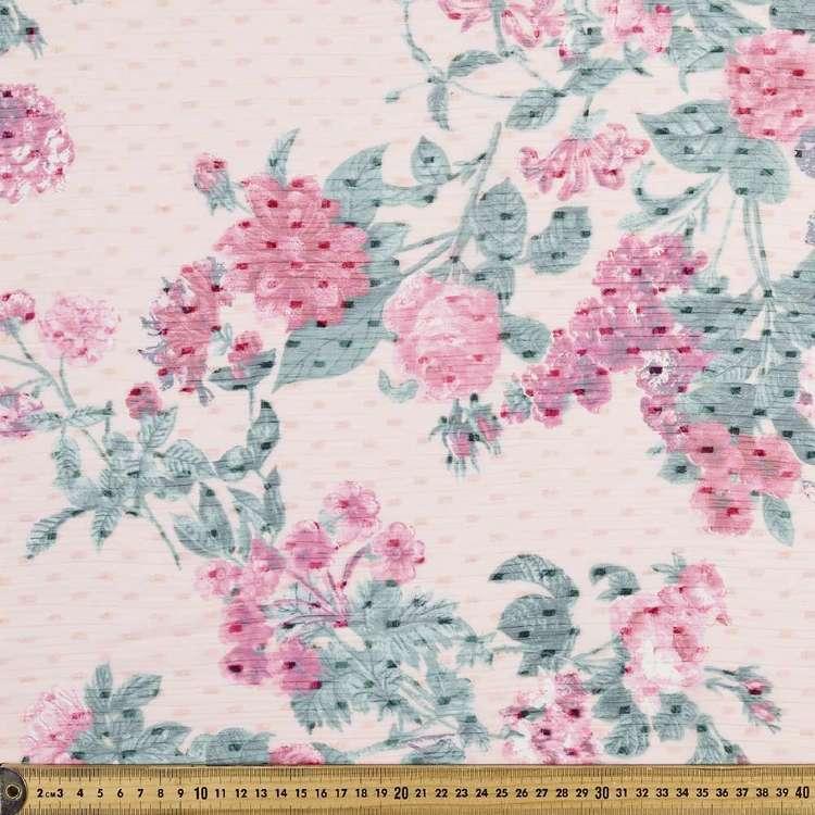 Rose & Dot Printed Crinkle Chiffon Fabric