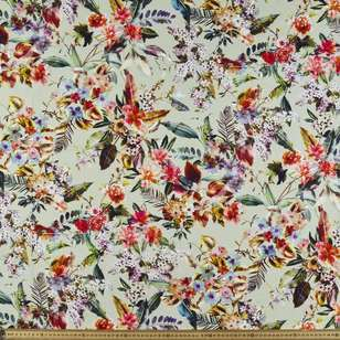 Fresh Floral Digital Printed Cotton Linen Fabric