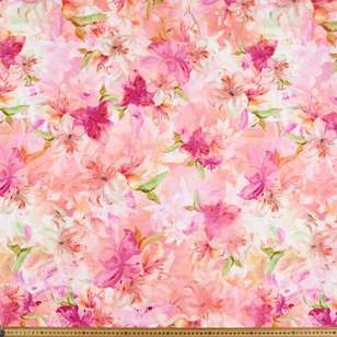 Luscious Lily Digital Printed Cotton Linen Fabric