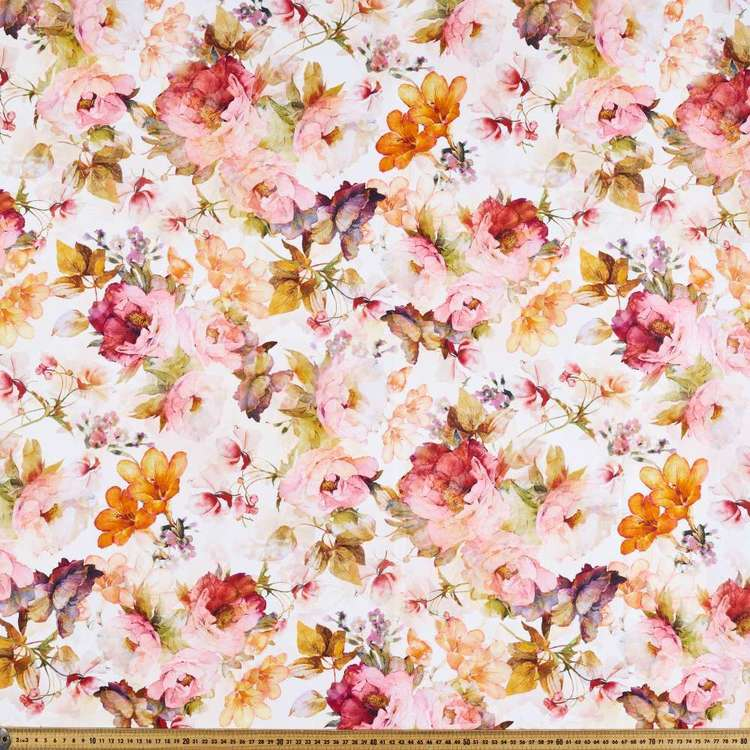 Watercolour Digital Printed Cotton Linen Fabric