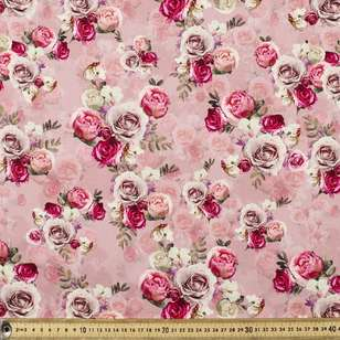 Rosettes Digital Printed Lawn Fabric