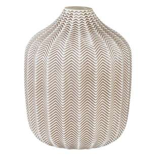 Ombre Home Desert Rose Chevron Glass Vase