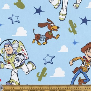Toy Story Clouds Planets 150cm Wide Curtain Fabric