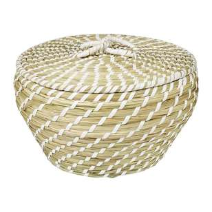Ombre Home Desert Rose Basket With Lid