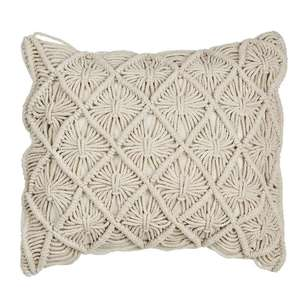 Ombre Home Desert Rose Macrame Cushion