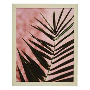 Ombre Home Desert Rose Fern Framed Portrait