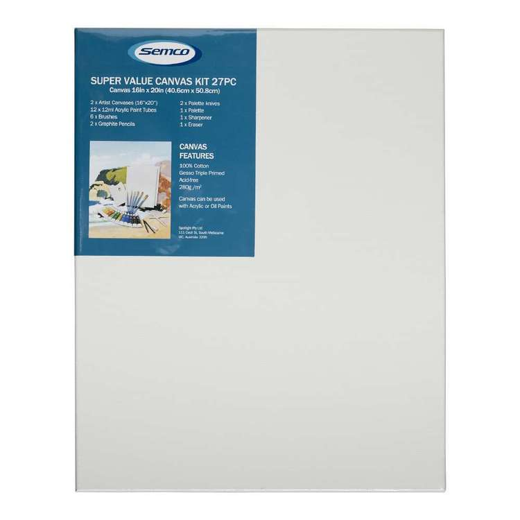 Semco Super Value Canvas Kit White 16 x 20 in
