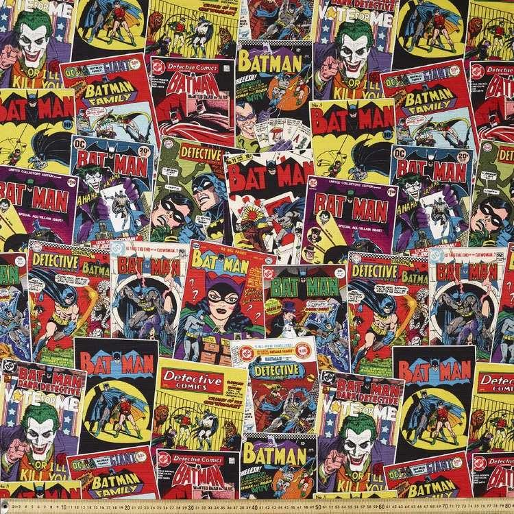 Batman 80th Birthday Comic Kids Curtain Fabric
