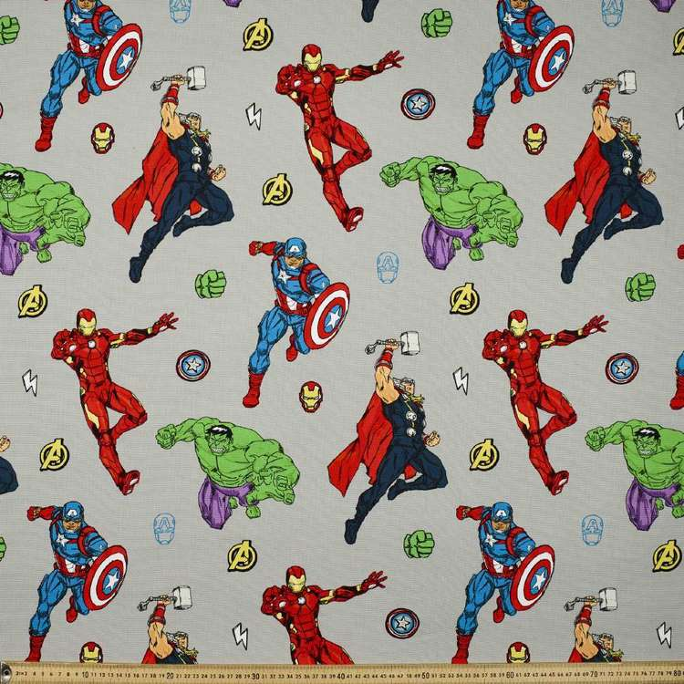 Avengers Portrait Of 4 Uncoated Curtain Fabric