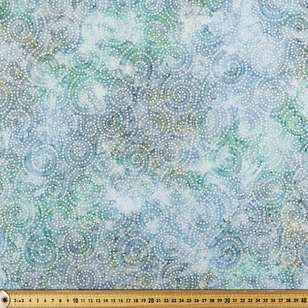 Indonesian Batik Silver Dots Fabric