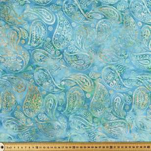 Indonesian Batik Large Paisley Fabric