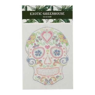 Exotic Greenhouse Rhinestone Iron On Motif Day Of The Dead