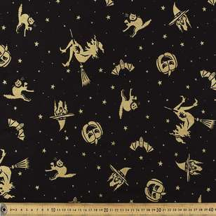 Halloween Witches Cotton Fabric