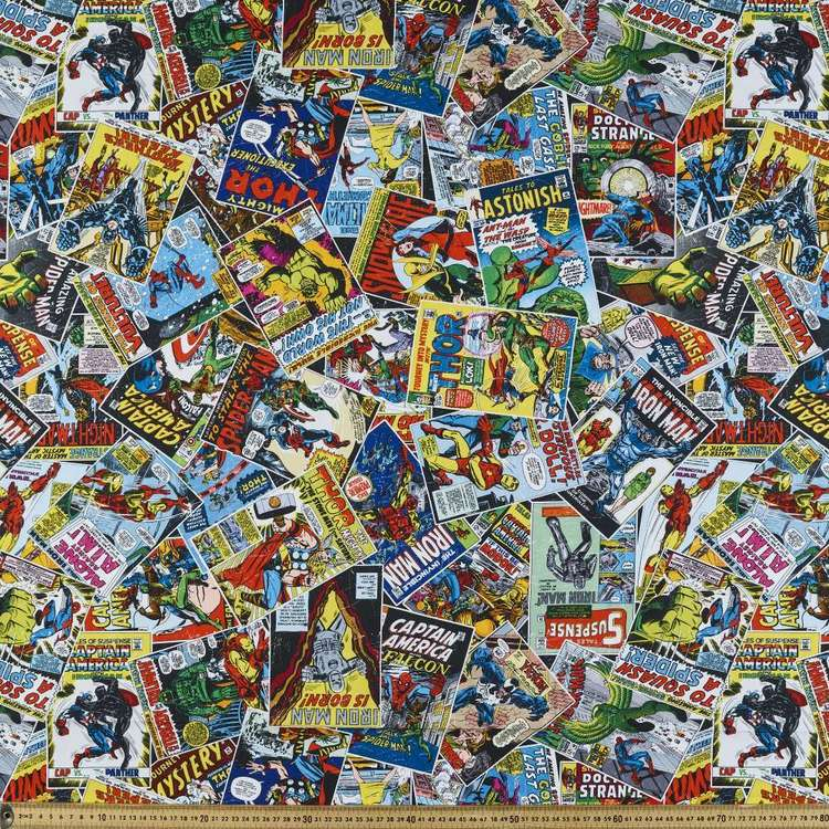 Marvel Comics Allover Cotton Fabric