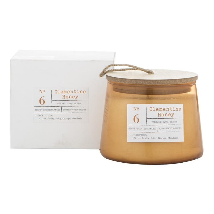 Amalfi Clementine Honey Scented Candle Jar