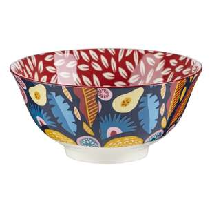 Cooper & Co Abstract Floral Large Ceramic Bowl