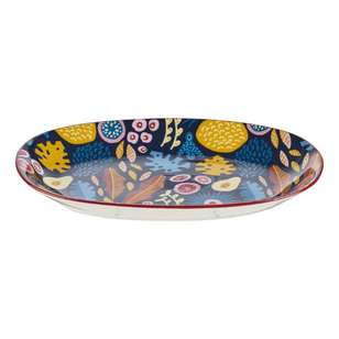 Cooper & Co Abstract Floral Snack Plate