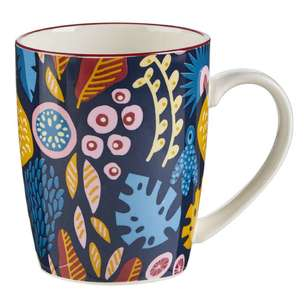 Cooper & Co Abstract Floral Ceramic Mug